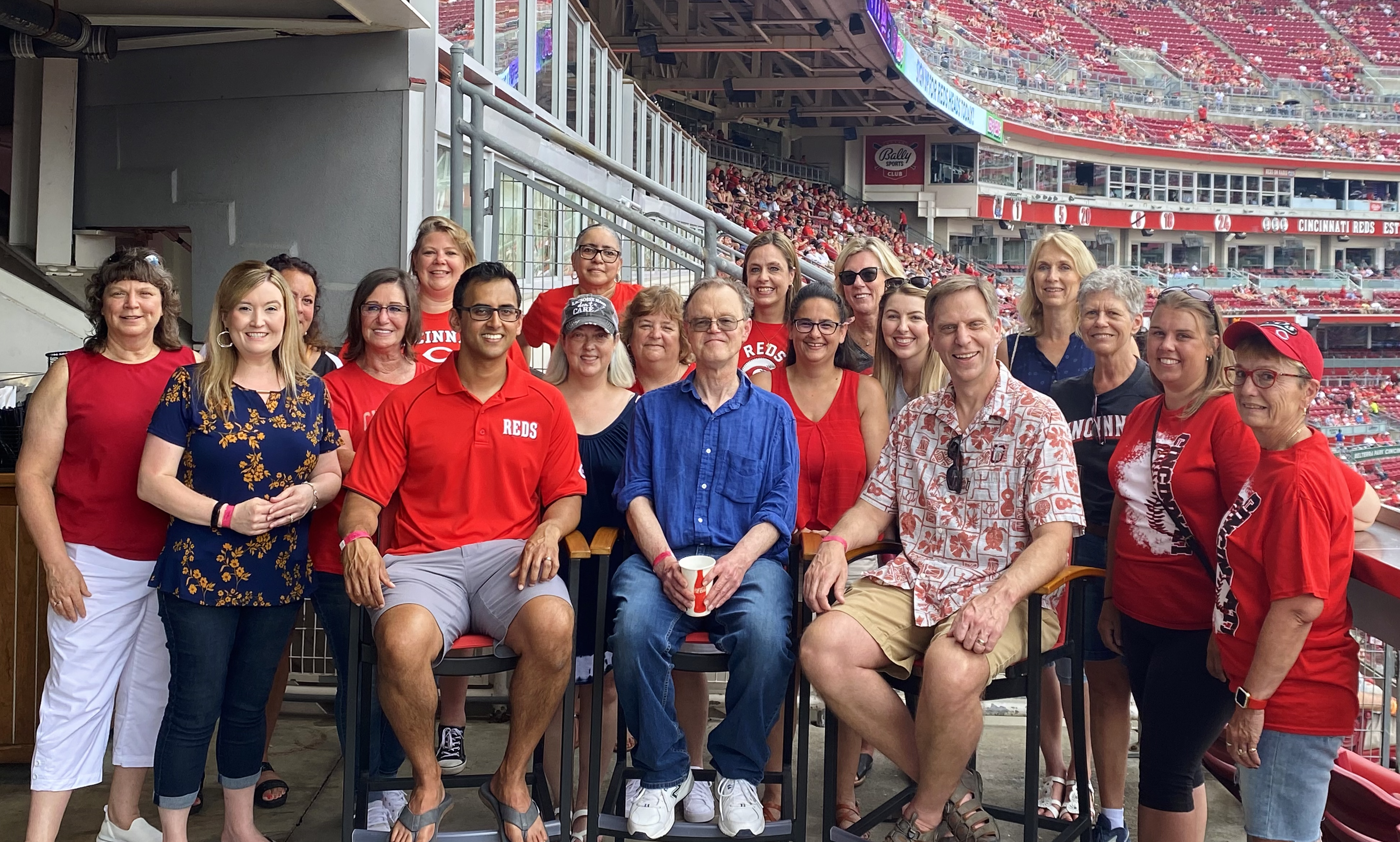 Allergy and Asthma Care Staff at Cincinnati Reds Game